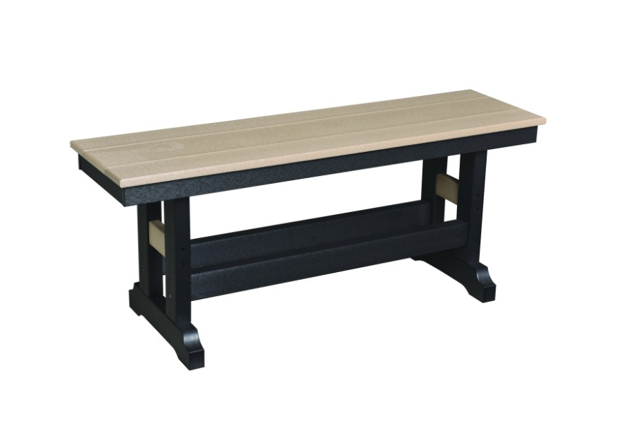 "Garden Classic 44"" Counter Height Bench (Natural Finish)"