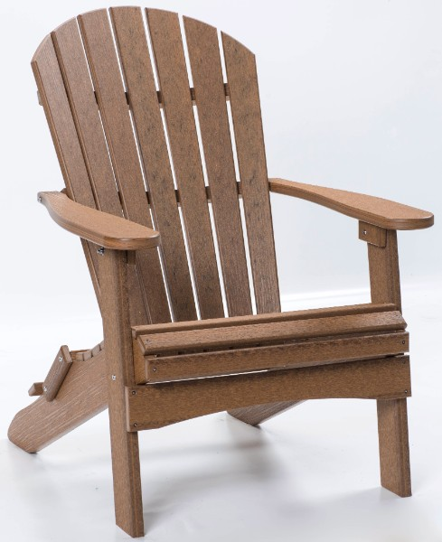 Comfo-Back Folding Adirondack Chair (Natural Finish)
