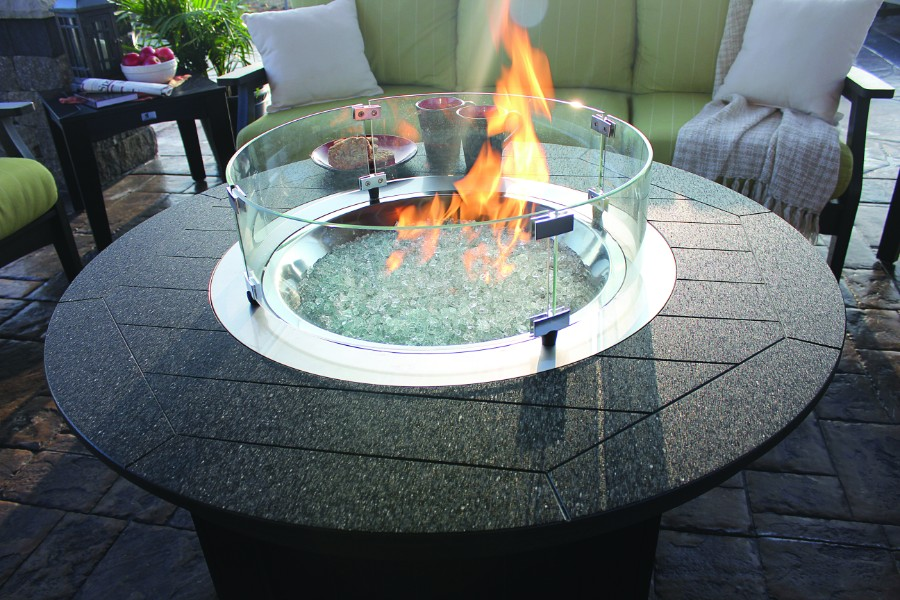 Donoma Fire Pit with Poly Top