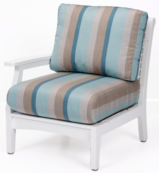 Classic Terrace Right Arm Sectional Club Chair (Fabric Group A)