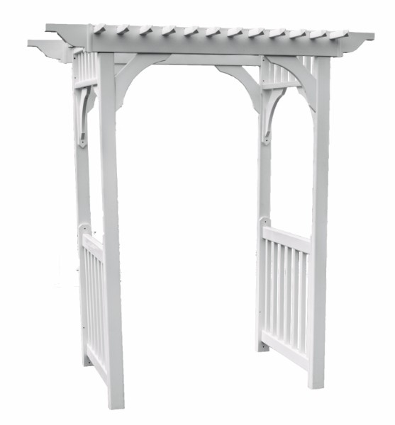 Sidewalk Arbor w/ Concrete Anchors (Clay Color)