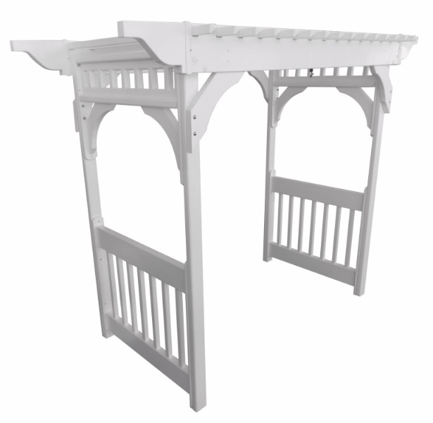 Vinyl Swing Arbor w/ Concrete Anchors (Clay Color)